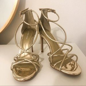Gianni Bini Gold Metallic Heels